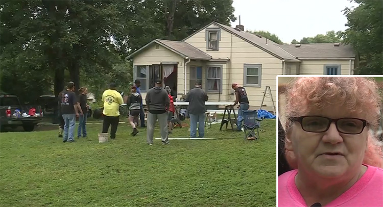 volunteers save womans home