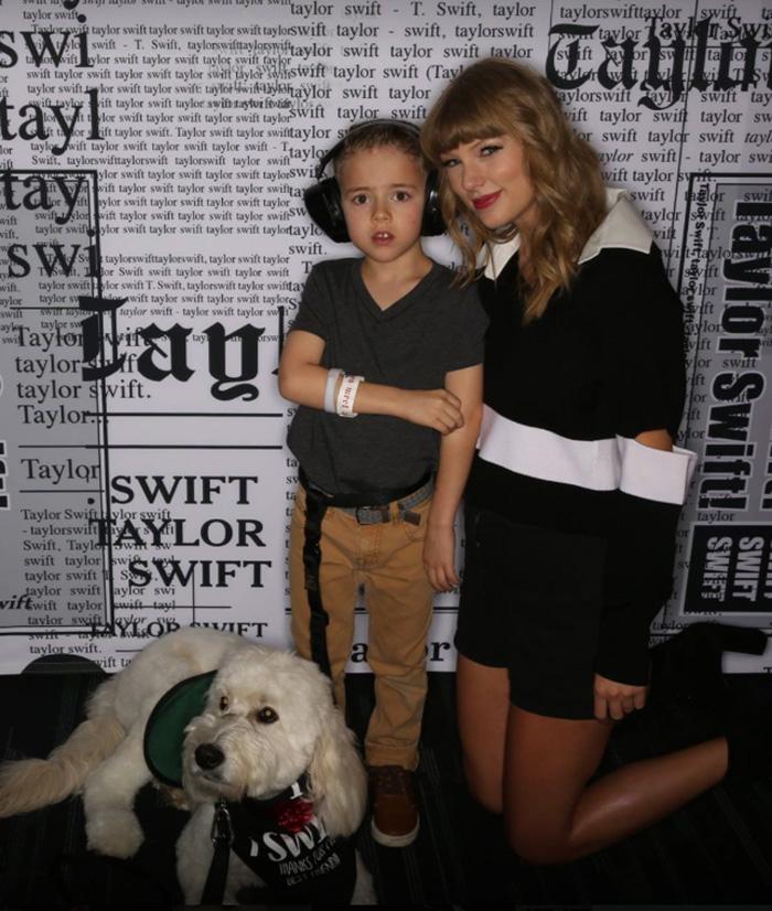 good news taylor swift boy autism service dog