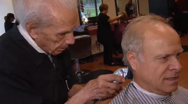 107 Year Old Is The World S Oldest Barber And He S Still