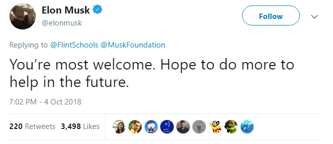 elon musk save flint water