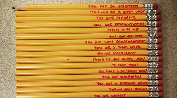 Teacher Finds Messages On Her Student S Pencils