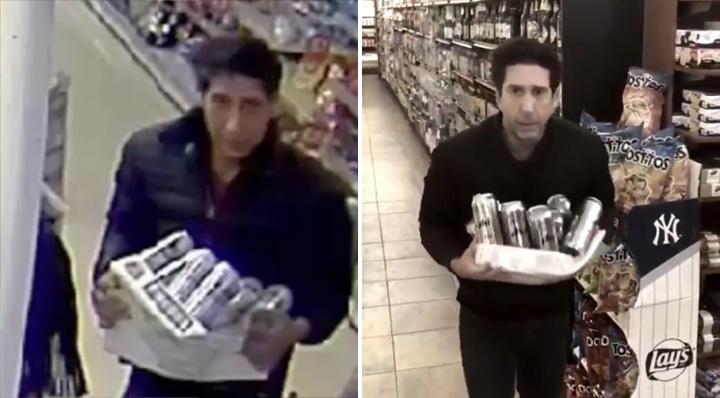 ross steals beer