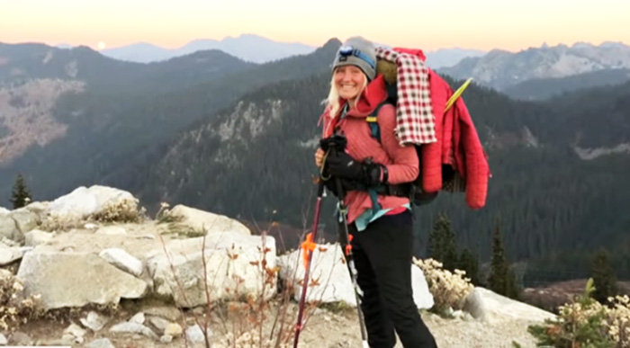 woman saves hiker on trail