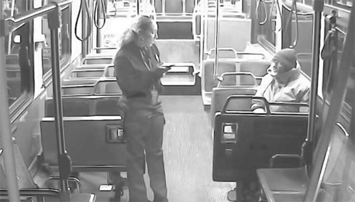 bus driver kindness for homeless man