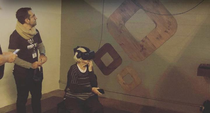 elderly woman poor eyesight VR first time