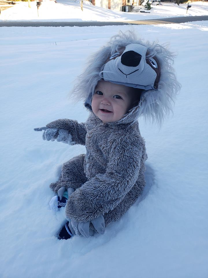 baby in sloth costume