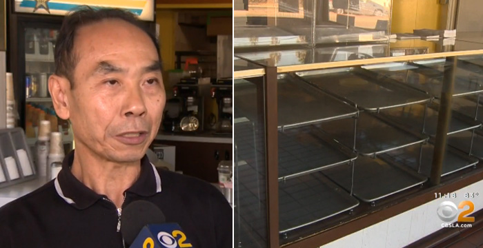 people buy donuts so owner can tend to sick wife