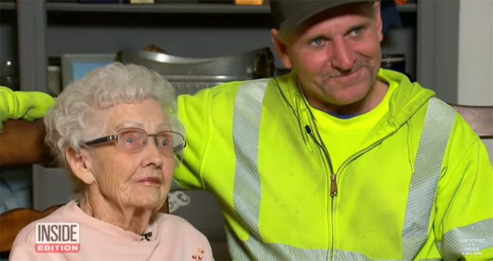 Heroic Waste Disposal Man Saves 93 Year-Old Woman From California Wildfires