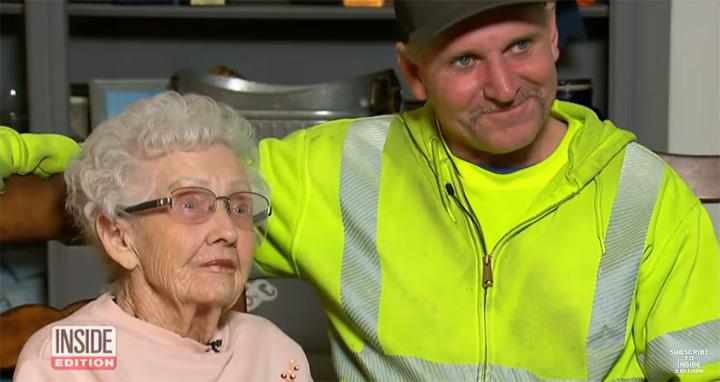 garbage man saves elderly woman fires