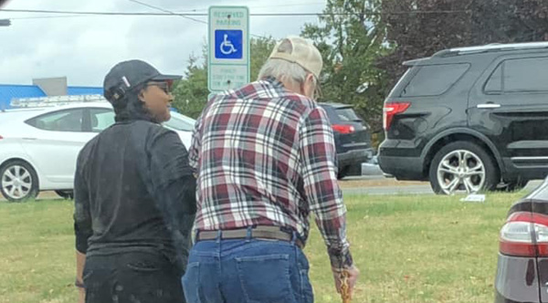 Burger King Employee Walks Elderly Man With Bad Back To His Car