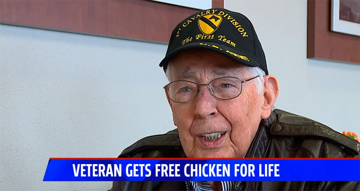 veteran gets free chic-fil-a for life
