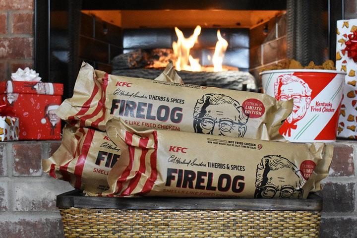 KFC Fire log that smells like fried chicken