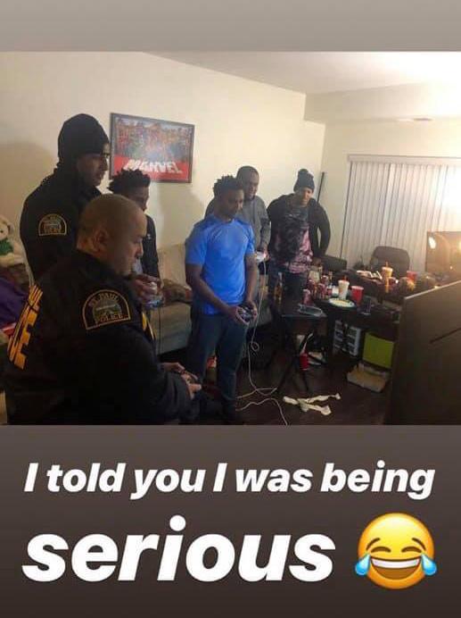 cops play smash bros at party noise complaint