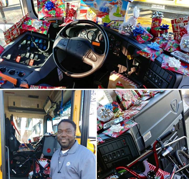 bus driver buys every kid a Christmas present