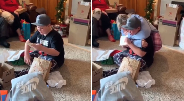 Ultimate Christmas Present.Boy With Troublesome Home Life Gets The Ultimate Christmas
