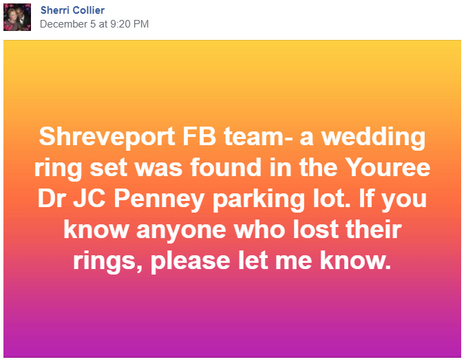 missing wedding ring found miracle