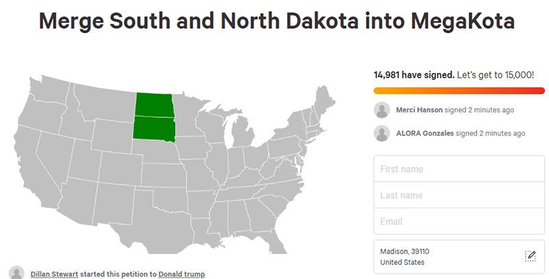 north south dakota megakota