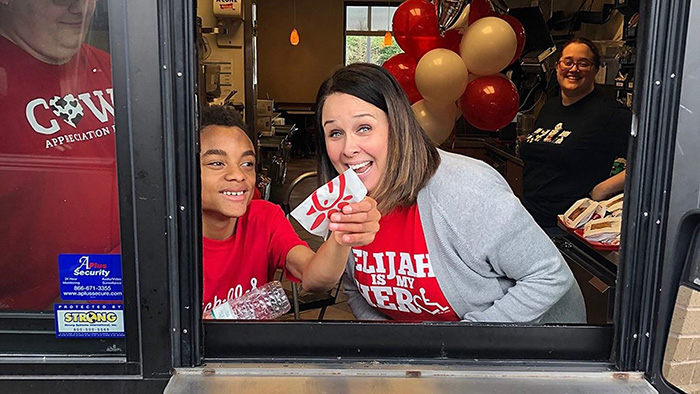 chick fil a opens on sunday for boy