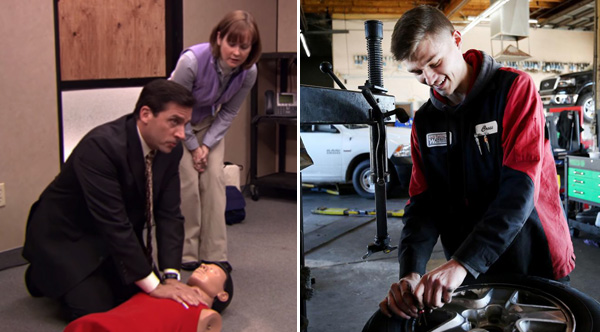 Mechanic Saves Womans Life Using Cpr Technique He Learned From The