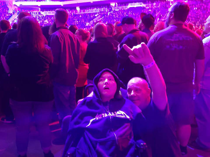 dad takes son cerebral palsy to heavy metal concerts