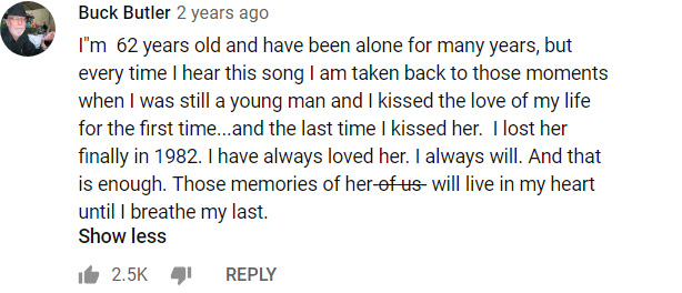 unchained melody comments