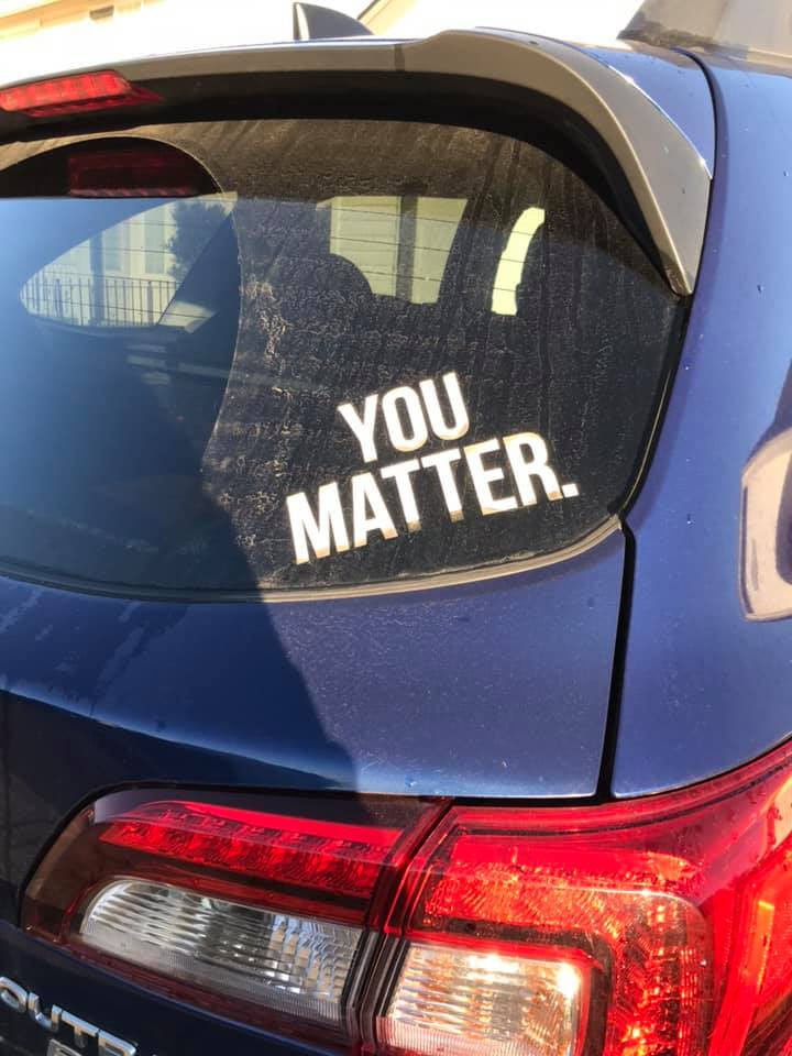you matter bumper sticker