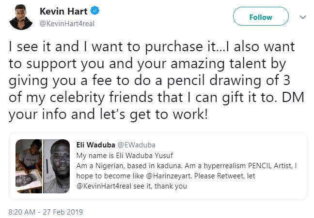 Kevin Hart pencil drawing