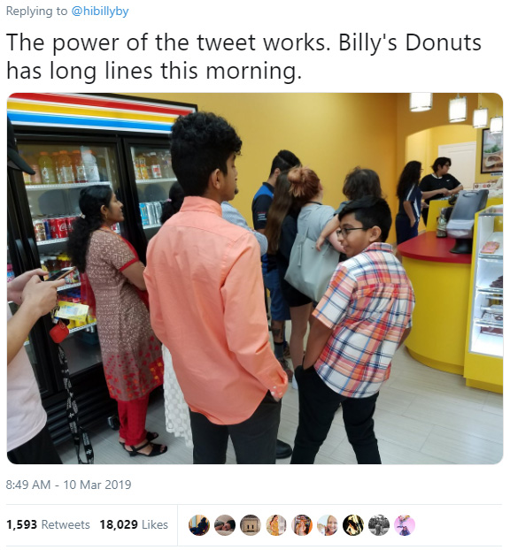 son tweets donut shop empty