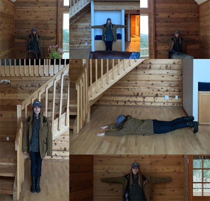chris pratt measure house with body and arms