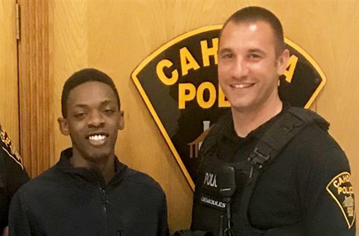 officer pulls man over drives him to interview