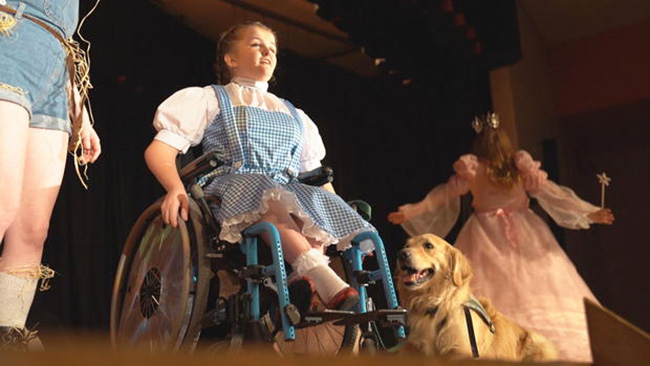 girl in wheelchair dorothy service dog