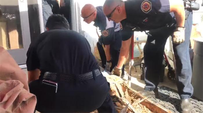 cops help build ramp