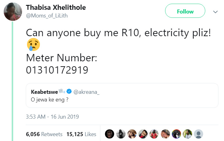 single mom asks for electricity