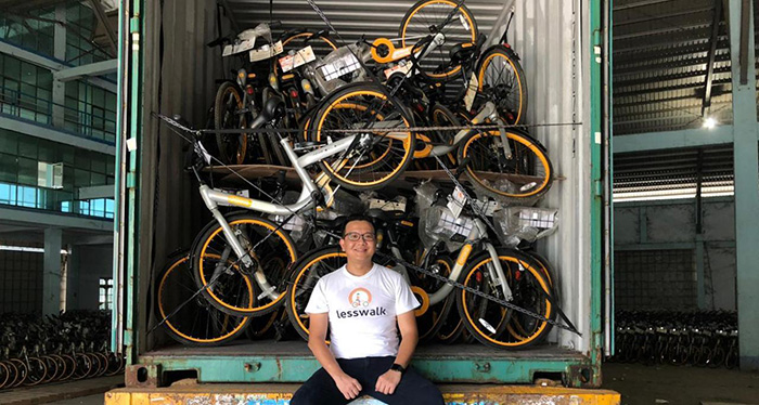man donates 10 thousand bikes to kids