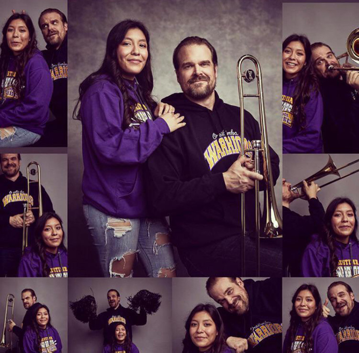 david harbour takes senior pictures with student twitter