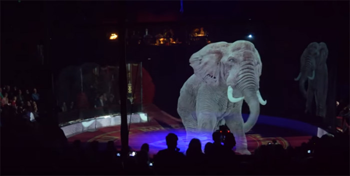 circus uses holograms