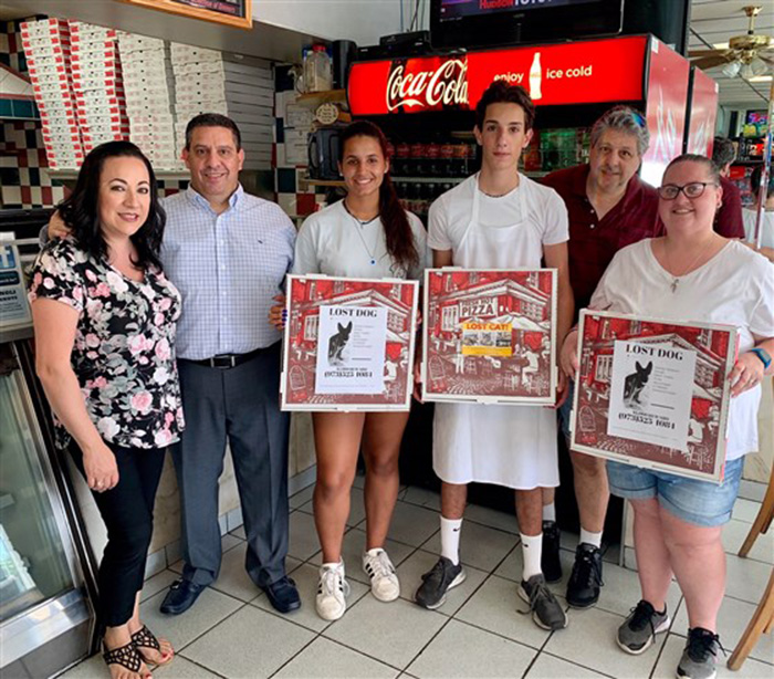 pizza shop helps people find missing pets