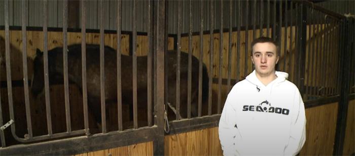 16 year old naked rambo saves horses in barn