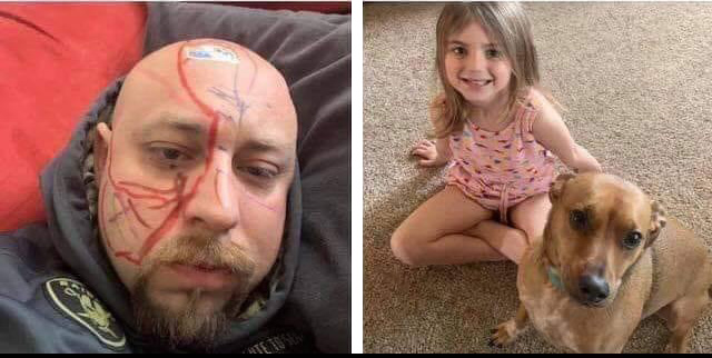dad vandalized by daughter funny marker