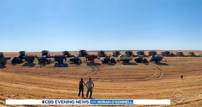 60 farmers help man with cancer harvest wheat