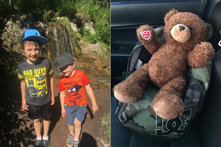 missing teddy bear found moms voice