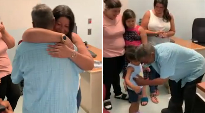homeless dad reunited with family