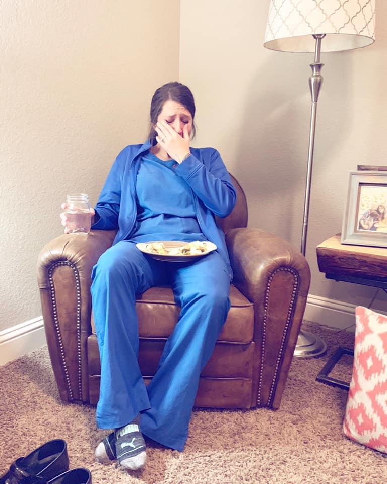 nurse cries after stillborn