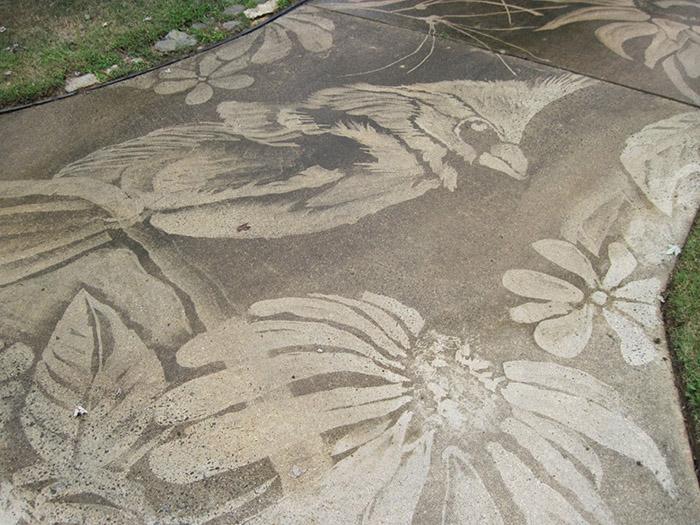 pressure washer driveway art