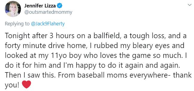pitcher hugs mom