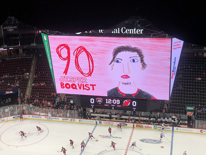 nhl team uses pictures drawn by kids