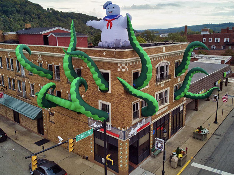 restaurant tentacles halloween decoration ghostbusters