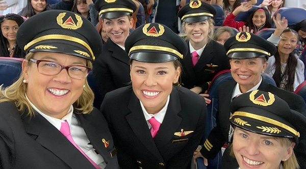 Delta Flies 120 Girls To NASA With All Female Crew To Inspire Female Aviators