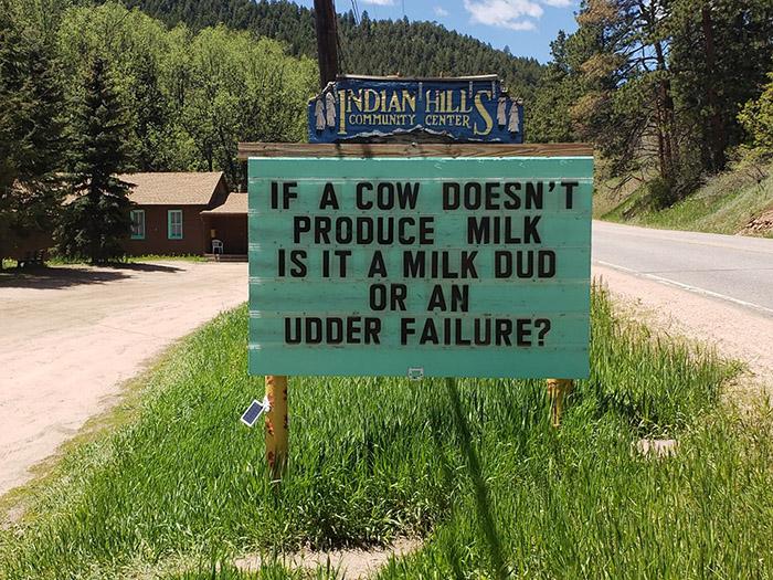 dad jokes colorado sign