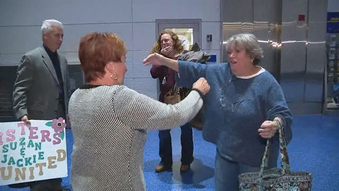 sisters meet first time 75 years DNA test
